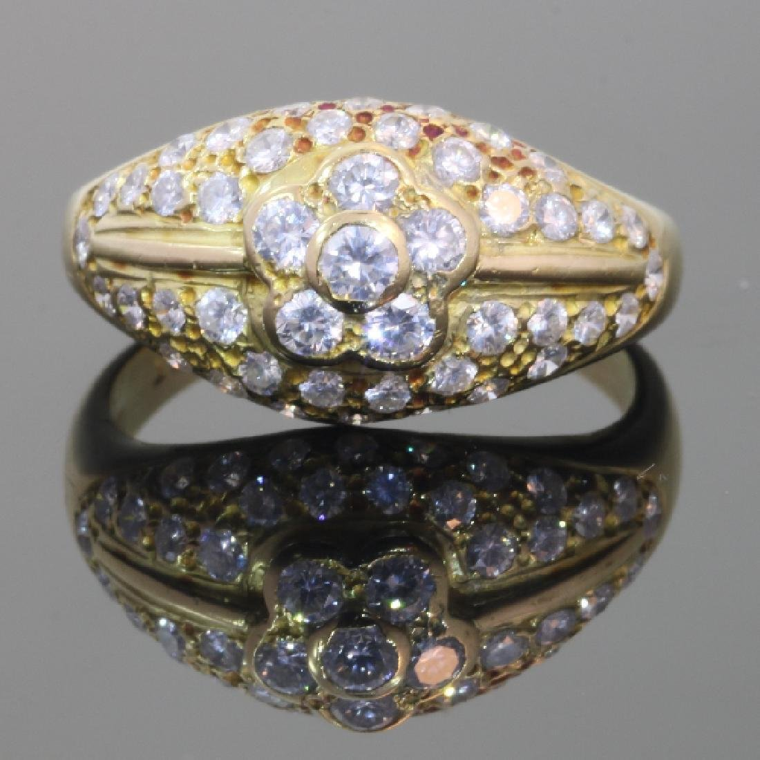 Estate 18K Yellow Gold Diamond Ring, 1.10ctw
