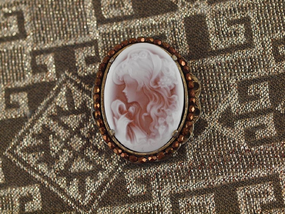 Pendant With Original Italian Cameo of Art Deco Period