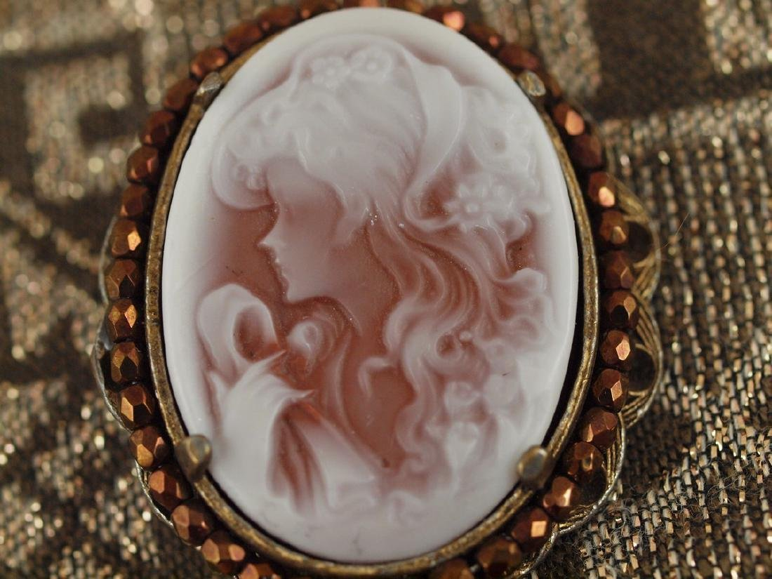 Pendant With Original Italian Cameo of Art Deco Period - 4