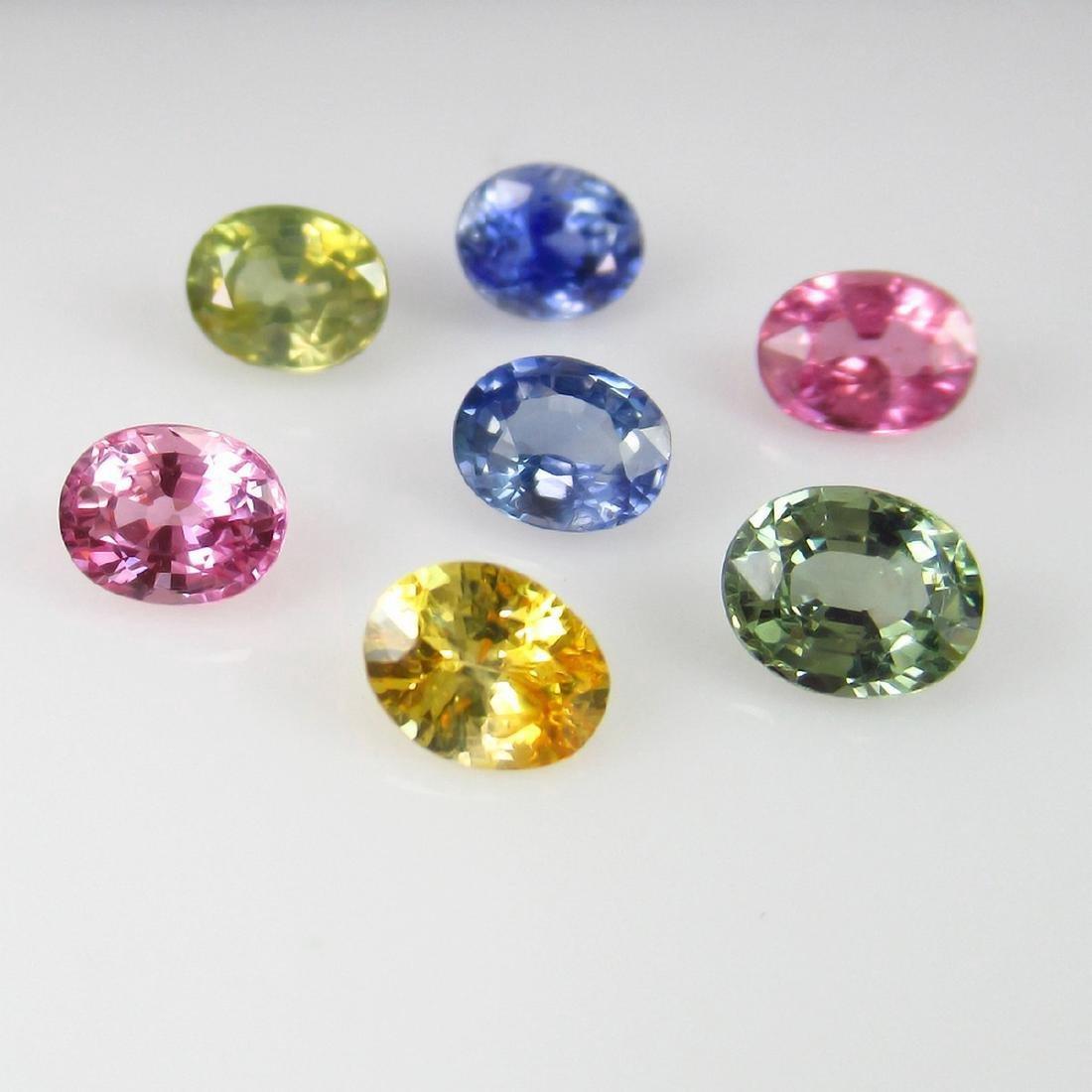 4.00 Carat 7 Loose Fancy Sapphire Nacklace Set