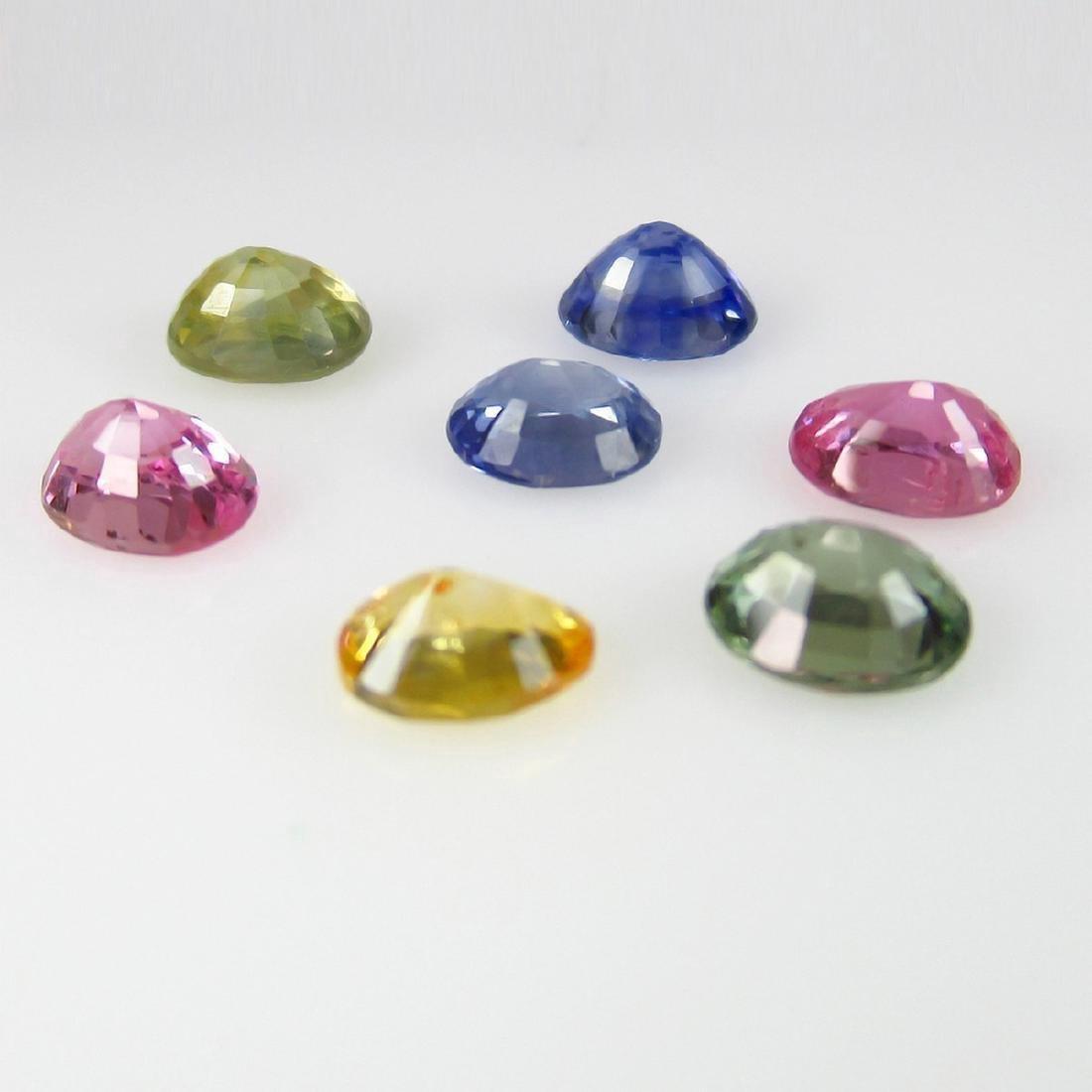 4.00 Carat 7 Loose Fancy Sapphire Nacklace Set - 3