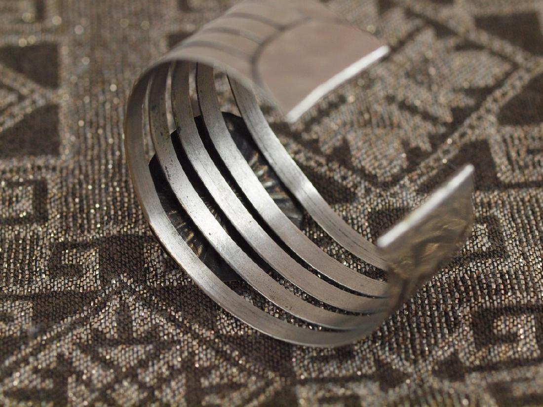Rigid Silver Bracelet Beetle Antique Egypt, 1920s - 2