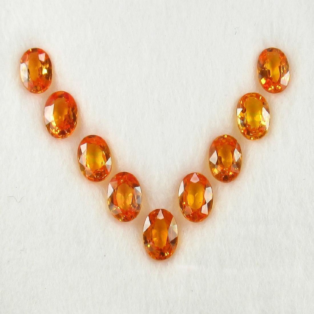 5.13 Carat 7 Loose Orange Sapphire Necklace Set