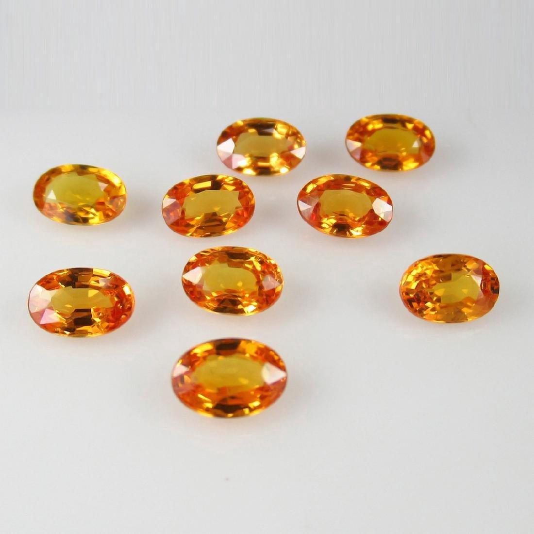 5.13 Carat 7 Loose Orange Sapphire Necklace Set - 3