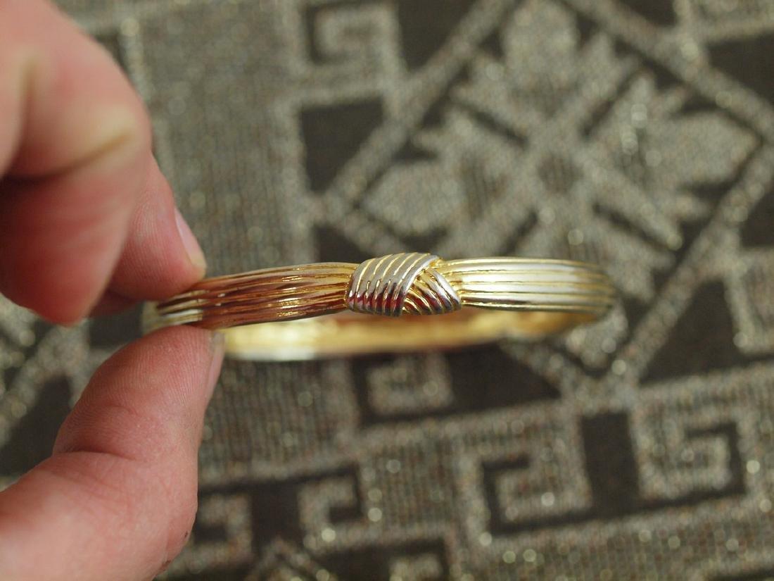 Vintage Rigid Golden Bracelet 1940s - 3