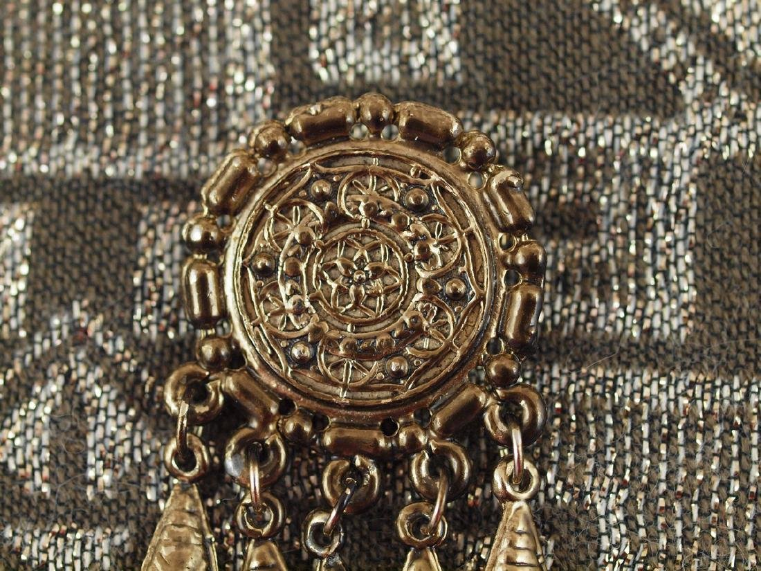Vintage Brass Brooch Richly Decorated, 1920s - 2