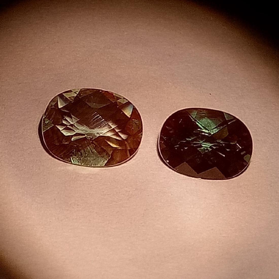 1.35 Carat Pair of Loose Color Change Andesine - 2