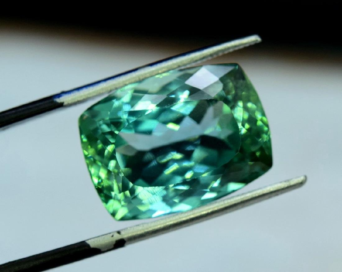 15.05 Carat Flawless Lush Green Kunzite Loose Gemstone - 2