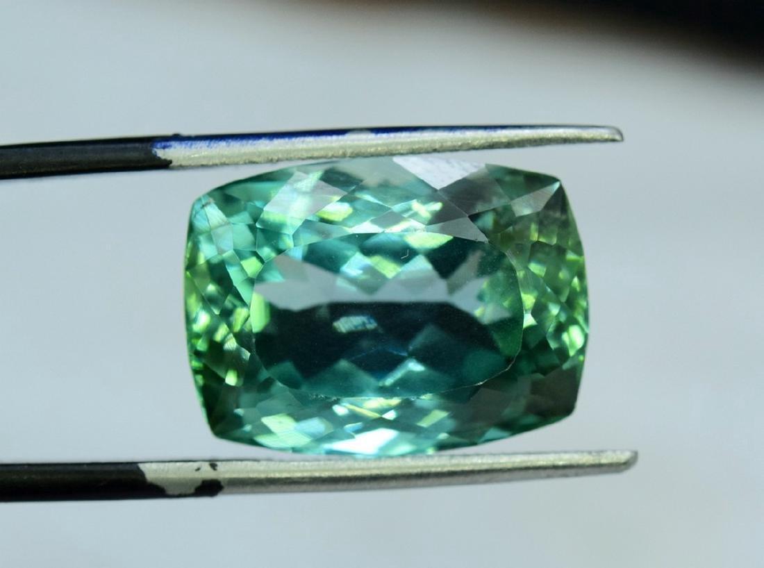 15.05 Carat Flawless Lush Green Kunzite Loose Gemstone - 4