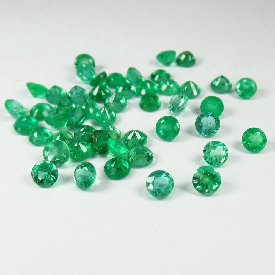 "10.62 Carat 49 Loose Round ""Diamond cut"" Emeralds Lot"