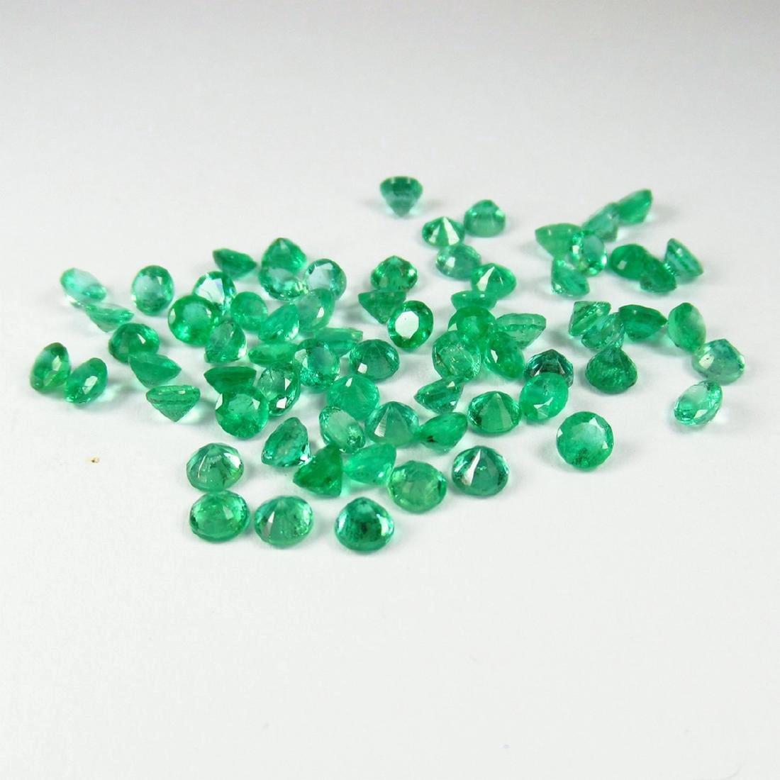 9.68 Carat Natural 70 Loose Calibrate Emerald Round