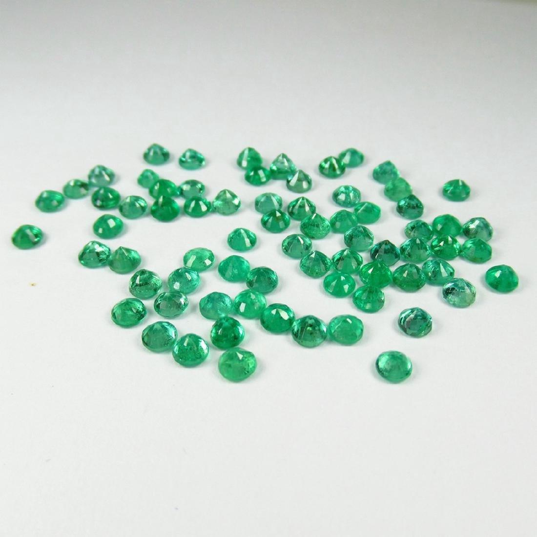 9.68 Carat Natural 70 Loose Calibrate Emerald Round - 2