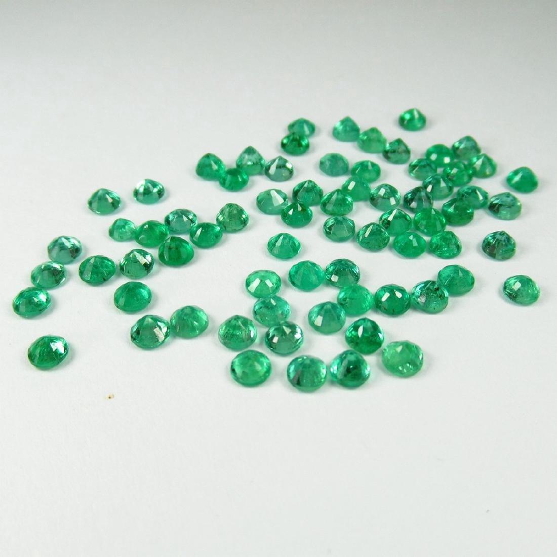 9.68 Carat Natural 70 Loose Calibrate Emerald Round - 3