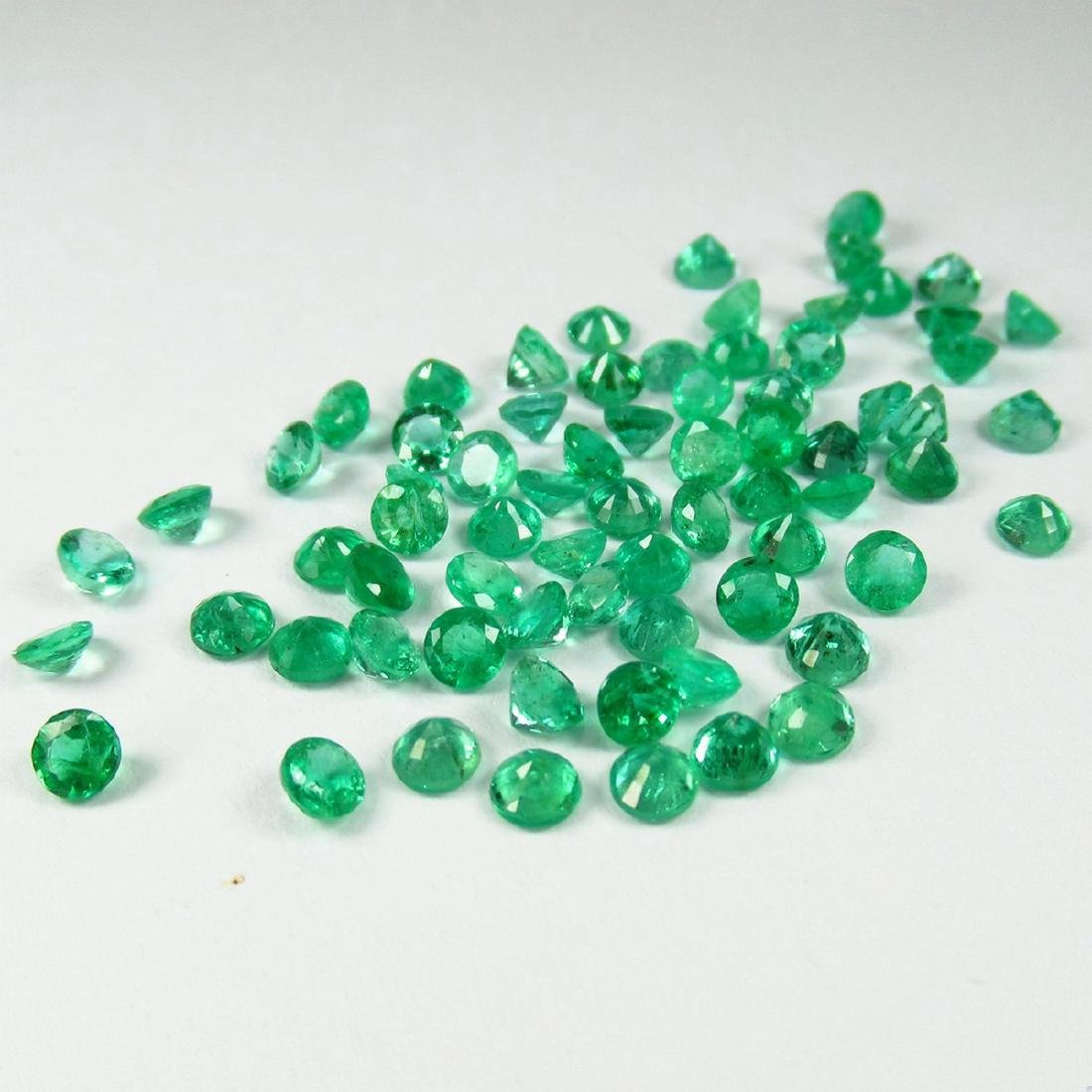 9.68 Carat Natural 70 Loose Calibrate Emerald Round - 4