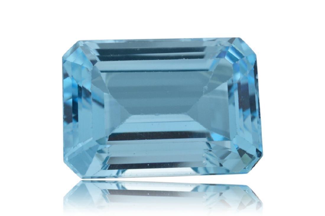 10.15 Carat Loose Emerald Blue Topaz