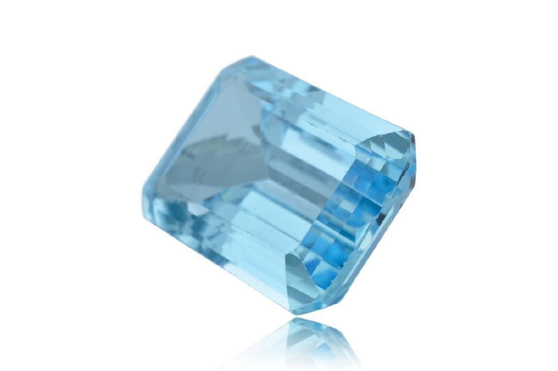 10.15 Carat Loose Emerald Blue Topaz - 3