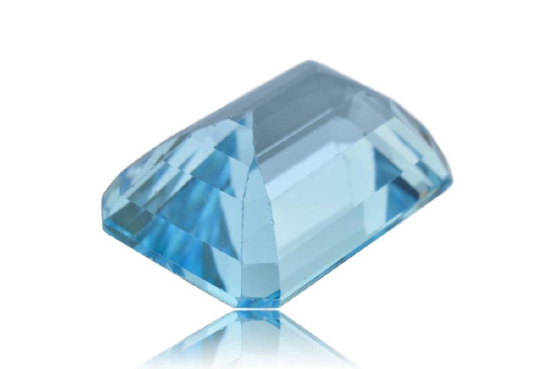 10.15 Carat Loose Emerald Blue Topaz - 4