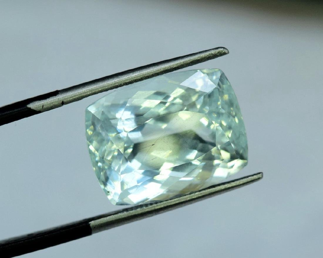 13.96 Carat Certified Natural Aquamarine Loose Gemstone - 4