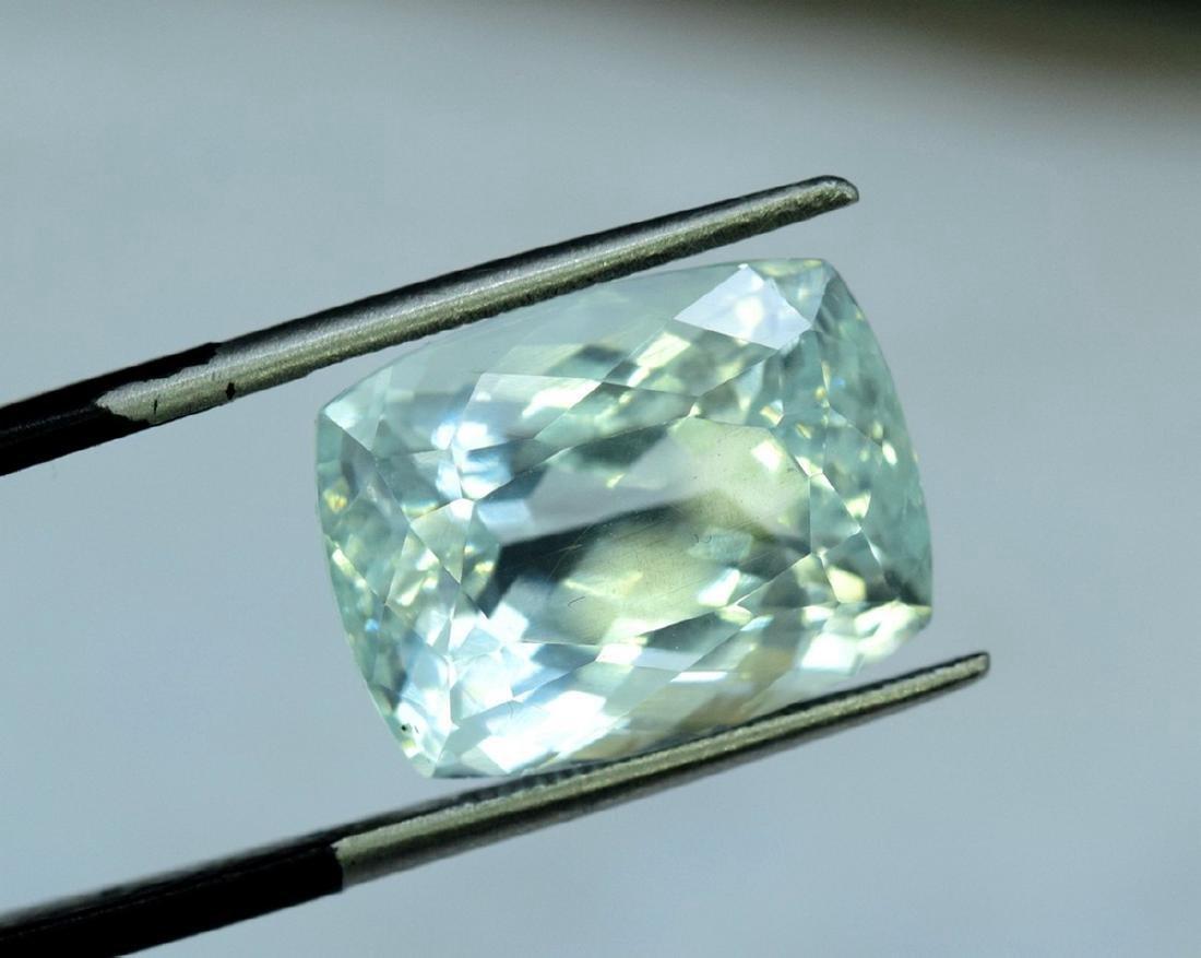 13.96 Carat Certified Natural Aquamarine Loose Gemstone - 5