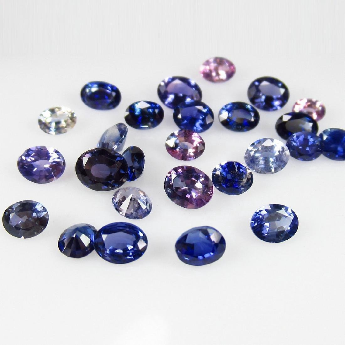 6.08 Carat Natural 26 Loose Unheated Blue Sapphire Oval