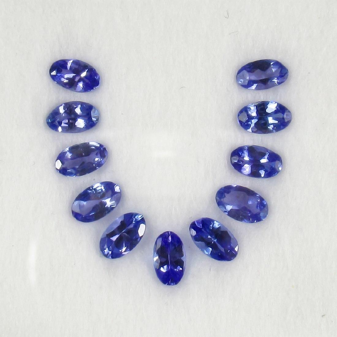 2.71 Carat Natural 11 Loose Tanzanite Oval Necklace Set