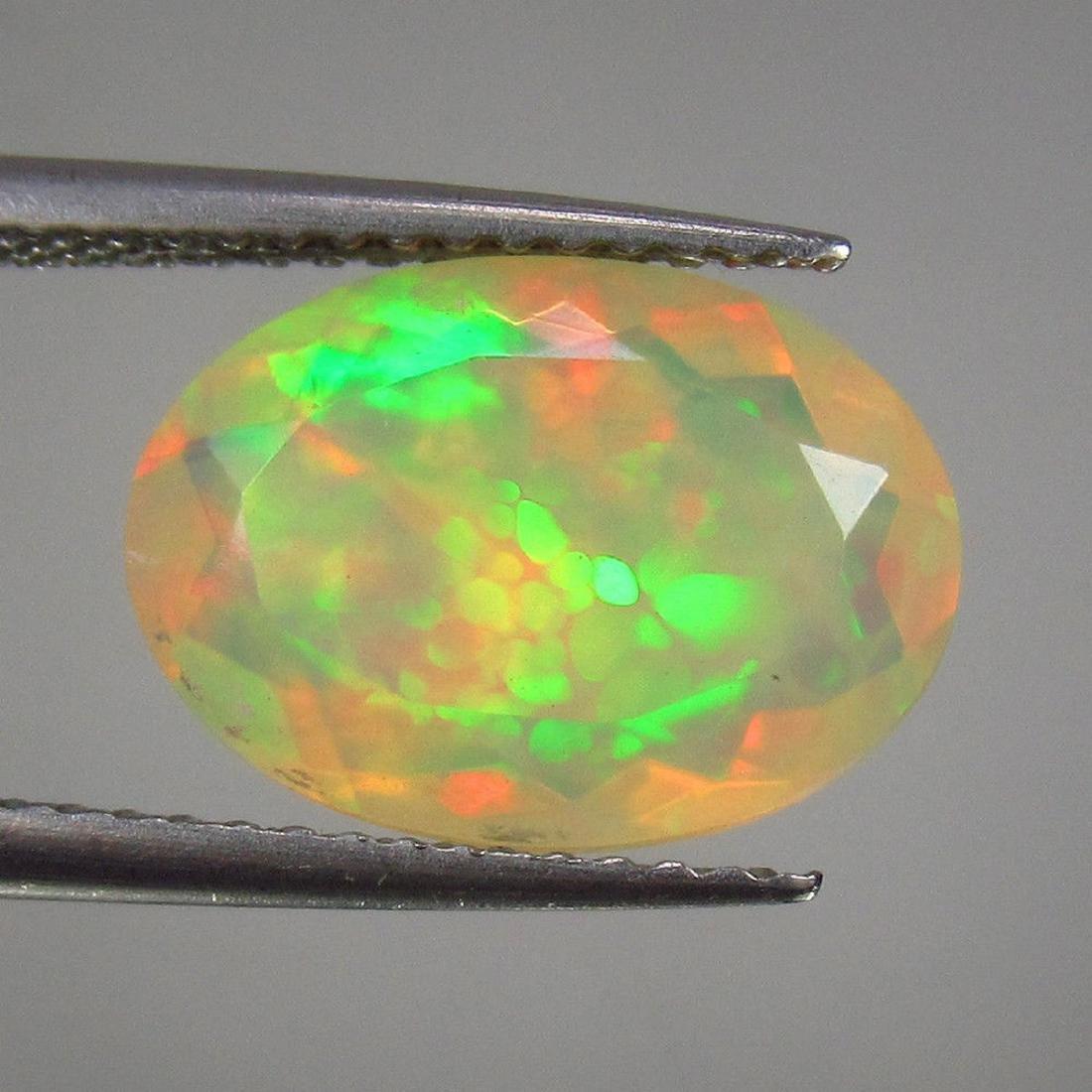 2.28 Carat Natural Loose Ethiopian Faceted Welo Opal