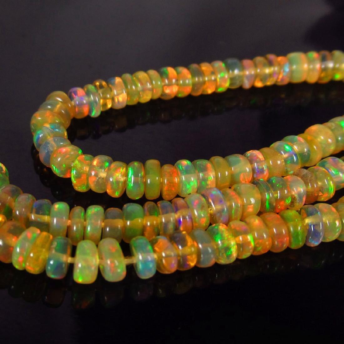 32.67 Carat Natural 255 Loose Ethiopian Opal Beads - 4