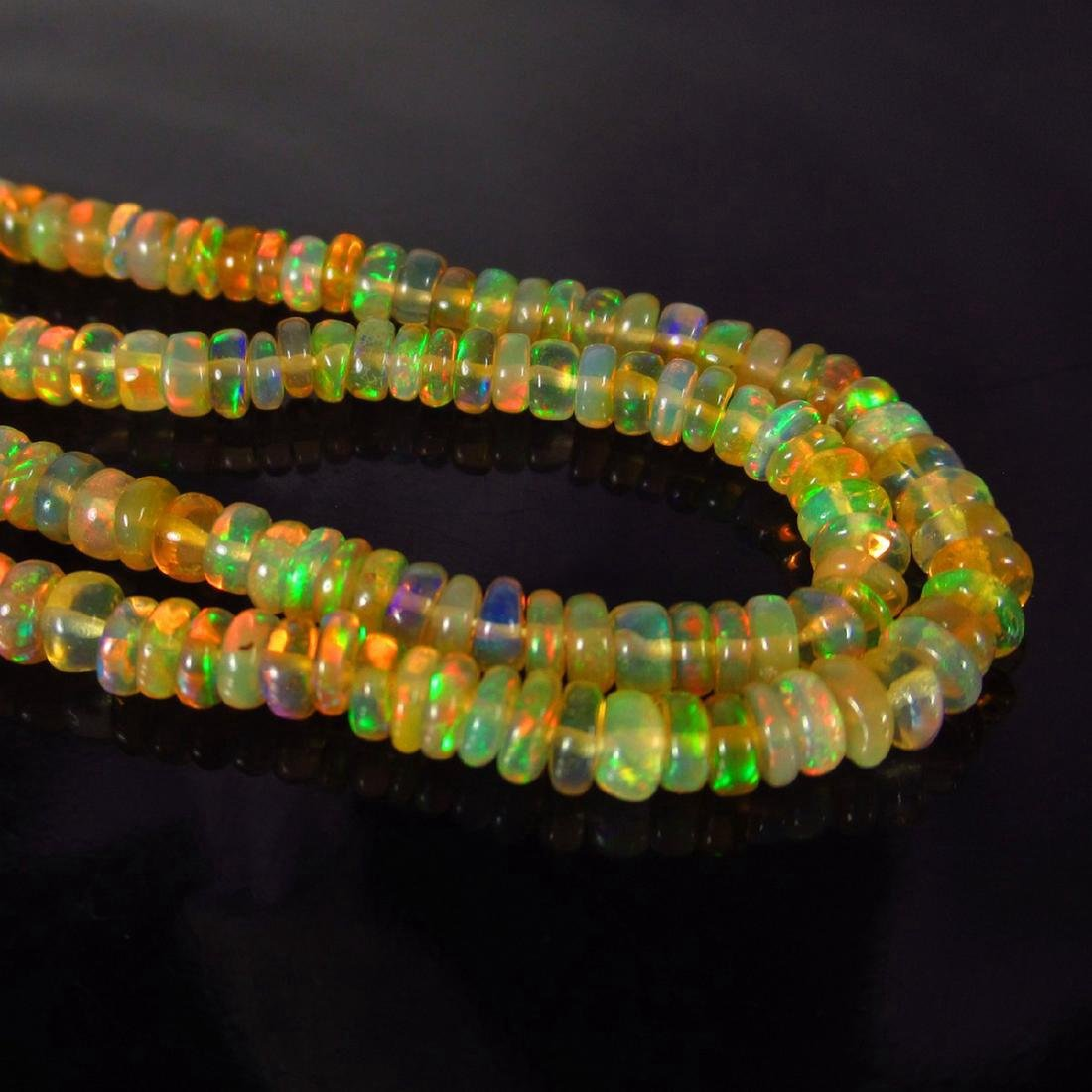 32.67 Carat Natural 255 Loose Ethiopian Opal Beads - 5