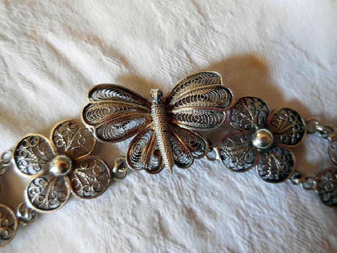 Vintage Filigree Silver Bracelet - 2