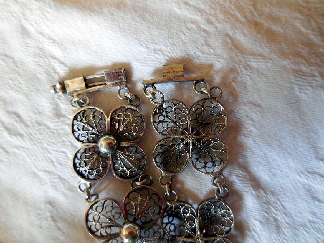 Vintage Filigree Silver Bracelet - 4