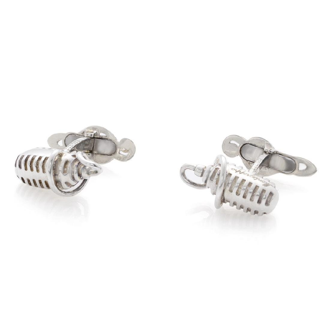 Montegrappa Microphone Sterling Silver Cufflinks