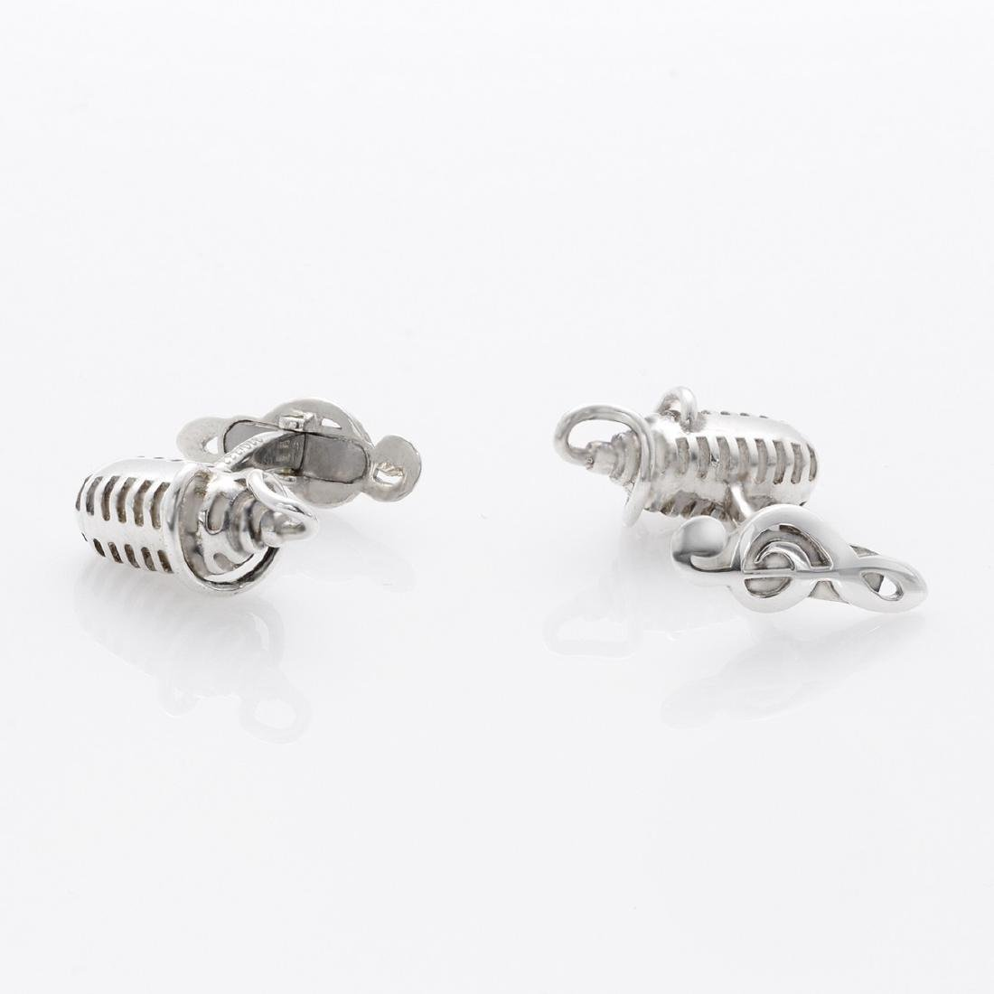 Montegrappa Microphone Sterling Silver Cufflinks - 2