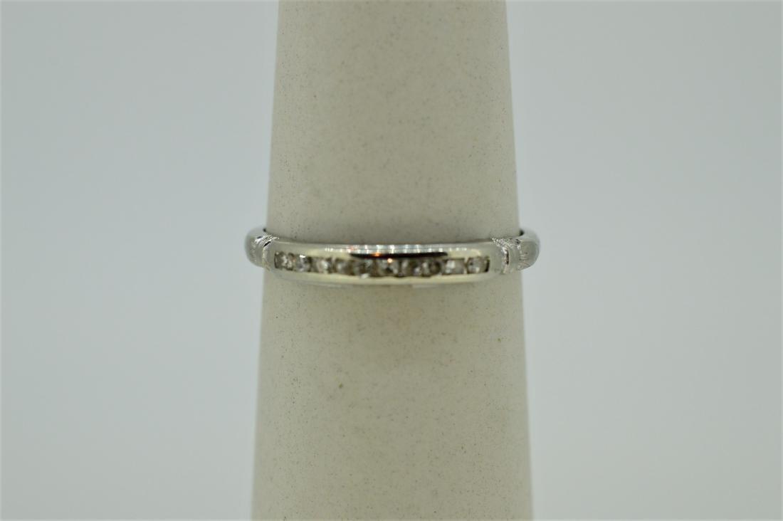 Dainty 14k White Gold & Diamond Ring