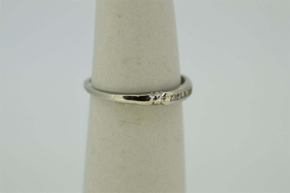 Dainty 14k White Gold & Diamond Ring - 2