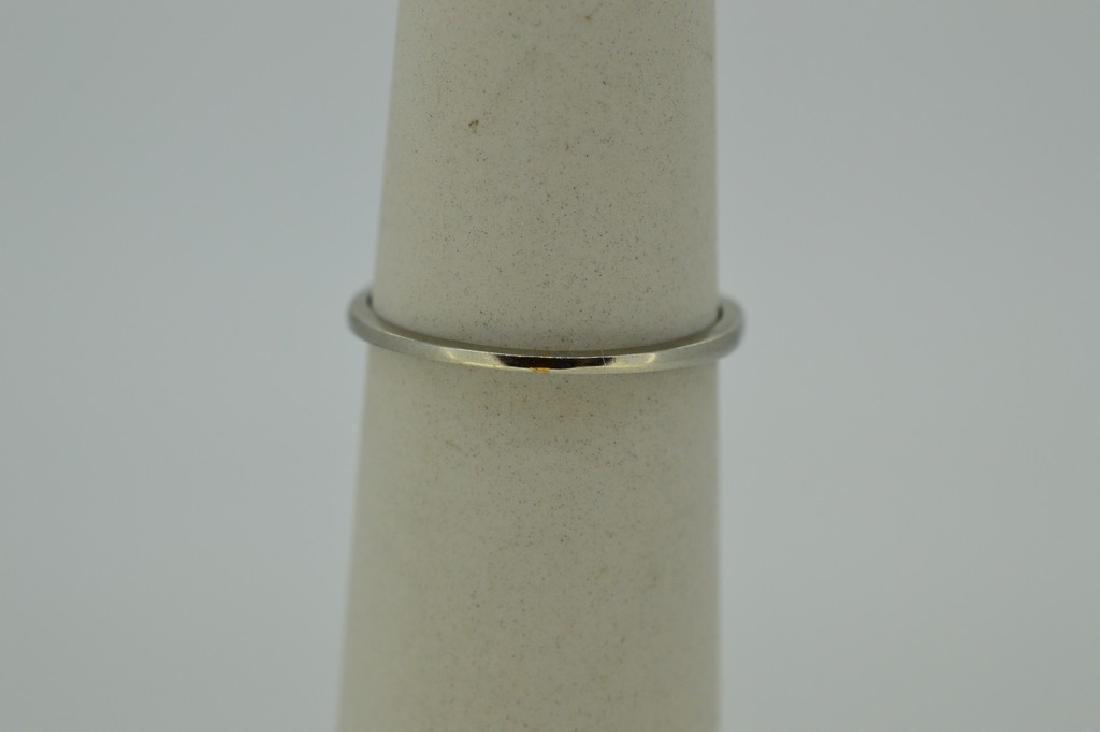 Dainty 14k White Gold & Diamond Ring - 4