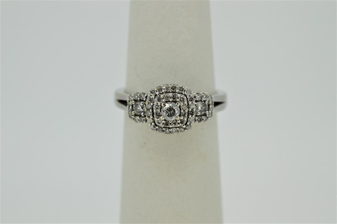 Finely Detailed 14k White Gold & Diamond Ring, .75ct