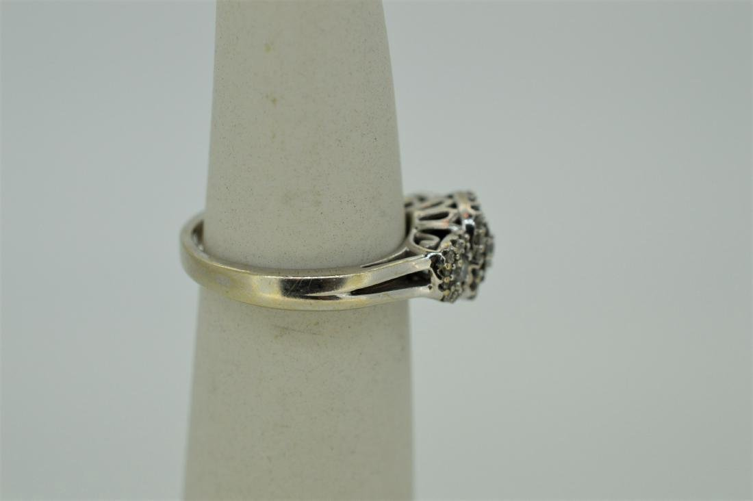 Finely Detailed 14k White Gold & Diamond Ring, .75ct - 2