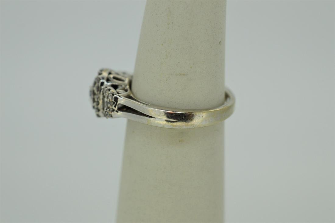 Finely Detailed 14k White Gold & Diamond Ring, .75ct - 3