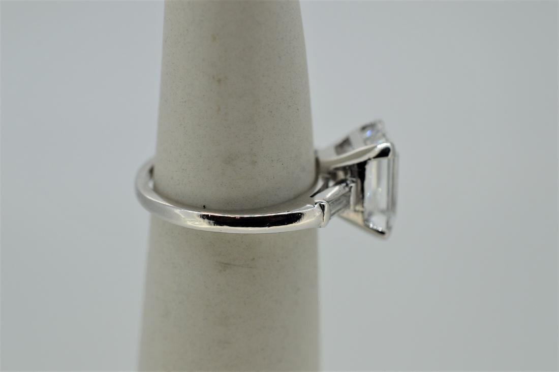 Platinum Natural White Beryl Diamond Ring, 4.37ct - 2