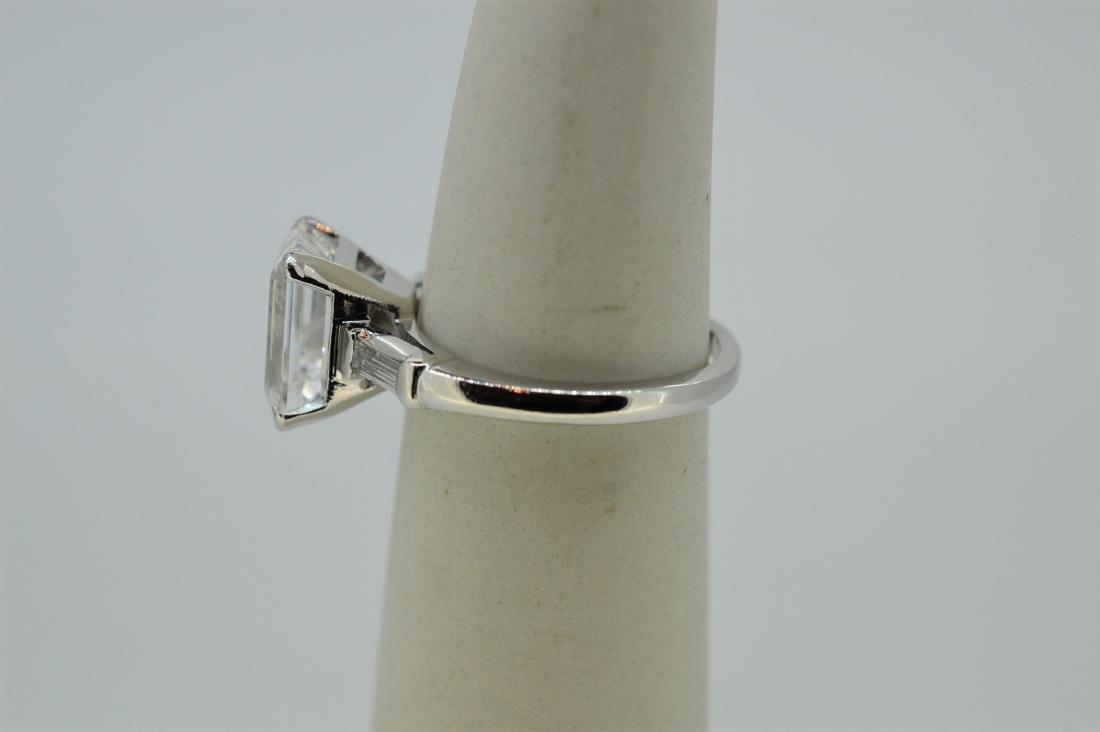 Platinum Natural White Beryl Diamond Ring, 4.37ct - 4