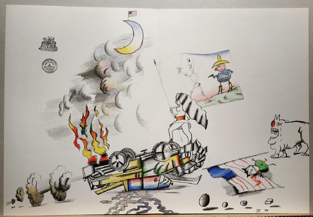 Saul Steinberg Limited Edition Lithograph La fin