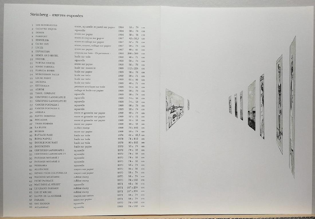 Saul Steinberg Limited Edition Lithograph La fin - 2