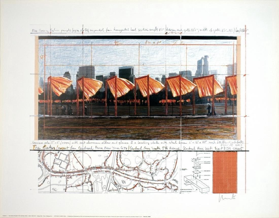 Javacheff Christo Lithograph Gates Project Central Park