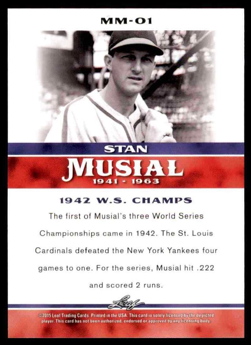 2015 Leaf Stan Musial Milestone Complete Set - 2