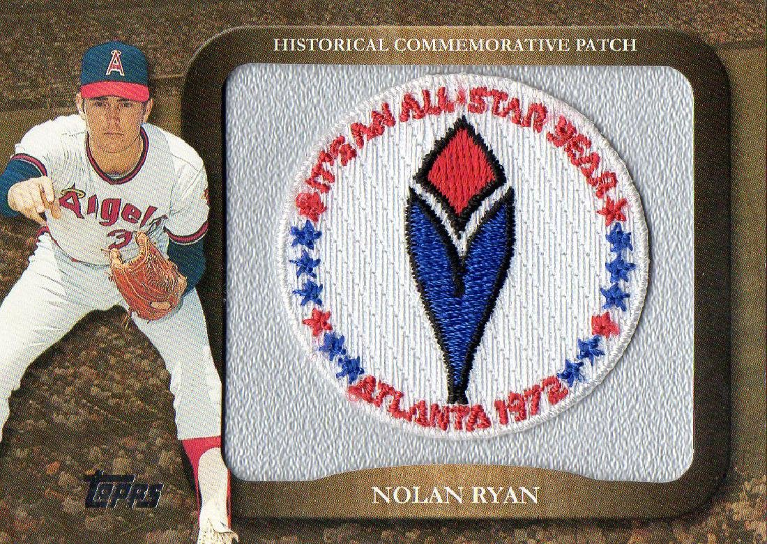 2009 Topps Legends Commemorative Patch Nolan Ryan 1972