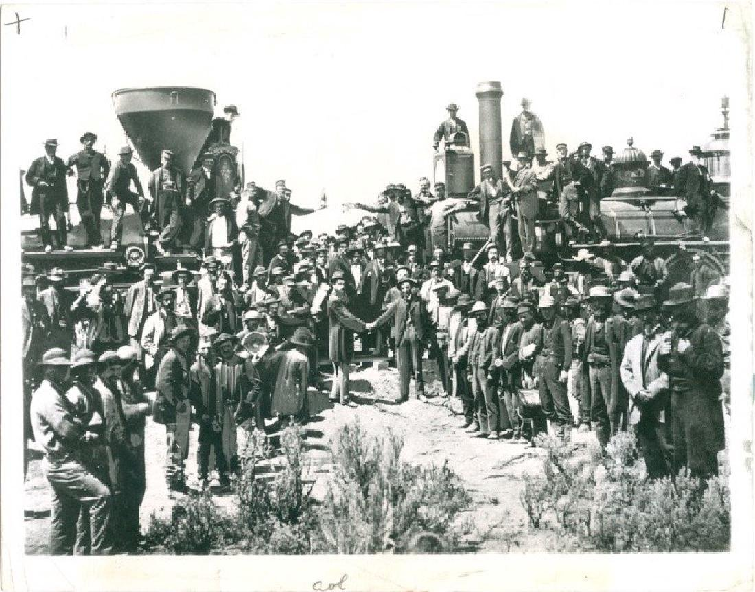 First Transcontinental Railroad Photograph