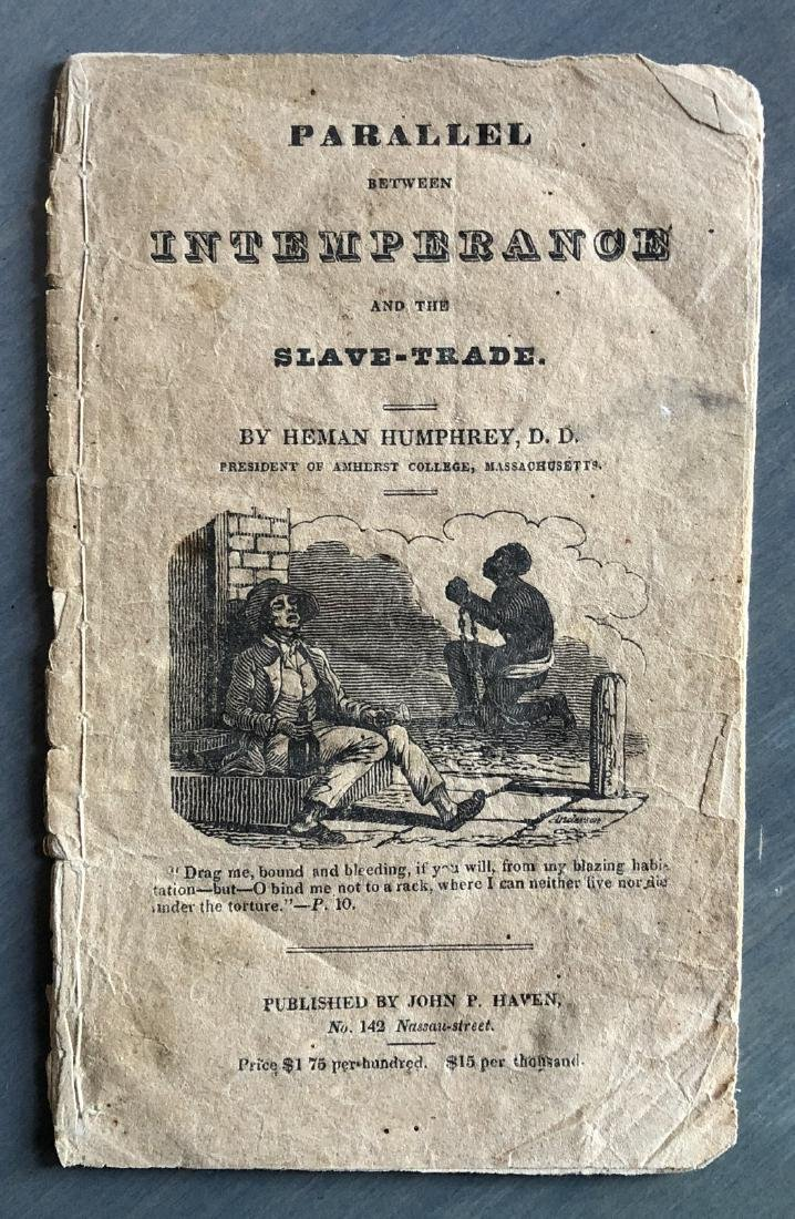 Parallel Between Alcohol & Slave Trade Pamphlet 1828