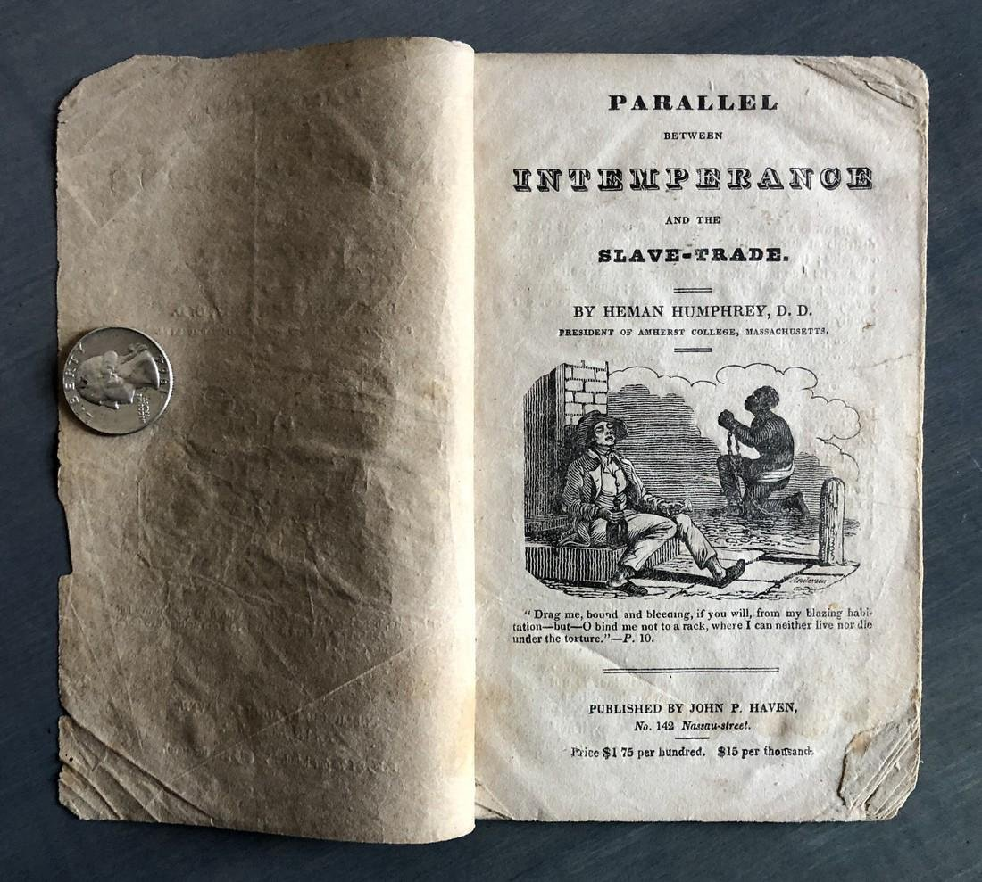 Parallel Between Alcohol & Slave Trade Pamphlet 1828 - 2