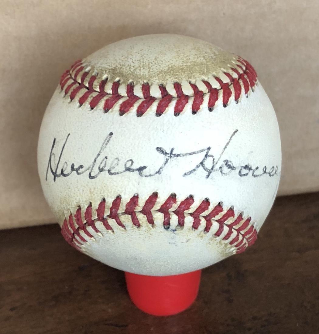 President Herbert Hoover Signed Baseball