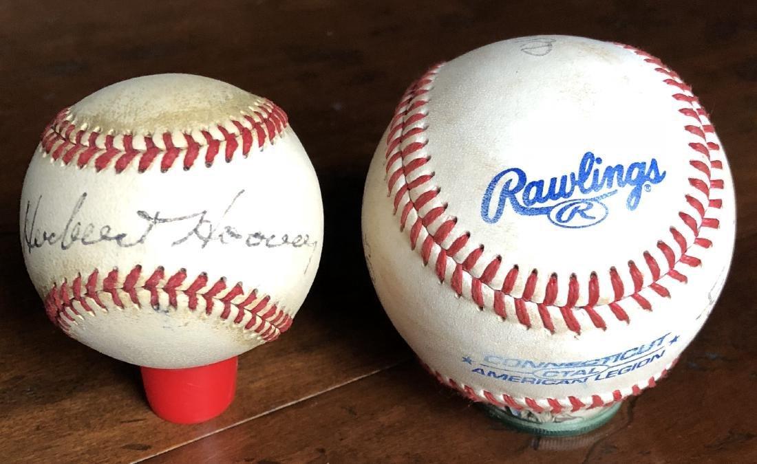 President Herbert Hoover Signed Baseball - 5